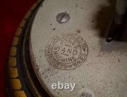 1893 Jones Serpentine Swan Neck hand crank Sewing Machine with case. MUST SEE