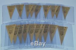 19 1963 Post Mini Baseball Pennant Collection! Must See