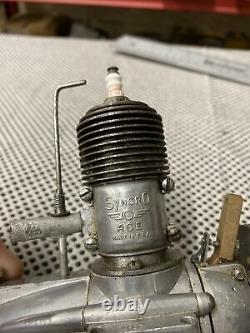 1937 Syncro Ace. 562 Model Airplane Tether Car Motor Good Compression Must See