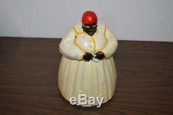 1940's Mccoy Black Americana Mammy Vintage Cookie Jar! Must See