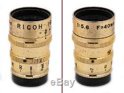 (37) Ricoh 16 Subminiature collection 2 Golden 1 Steky 1 Silver IB case MUST SEE