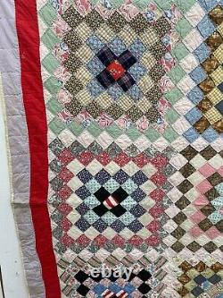 72x90 Vintage Patchwork Quilt Colorful Must See