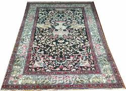 A Must See Antique Black Ground Esphane Ahmad Area Rug Private Collection