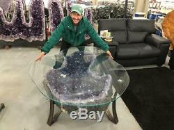 A Must See Biggest 362 Kgs / 800 Lbs AMETHYST TABLE Top Quality