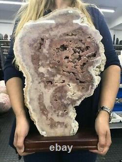 A Must See Deep Color PINK AMETHYST 9 Kg = 19 Lbs Rarest from Brazil