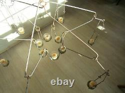 ANTIQUE 1800's BENT WIRE CANDLE CHANDELIER 12 CANDLE OR VOTIVE STUNNING MUST SEE