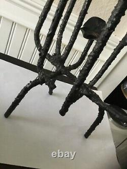 Amazing Brutalist Metal Candelabra / Candlesticks Super Cool Piece Must See Wow