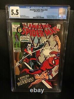 Amazing Spider-Man #101 CGC 5.5 (1971) 1st App Morbius BEAUTIFUL! Must See Key