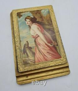 Antique Edwardian Art Nouveau Advertising Notepad Holder c1910 MUST SEE