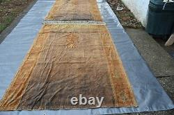 Antique Embroidered Curtains Pair 5'. 8 x8'. 6 Each Must See #364