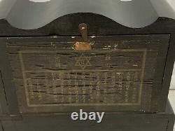 Antique Japanese 4 Pillar Mantel Clock RARE! Must See 317