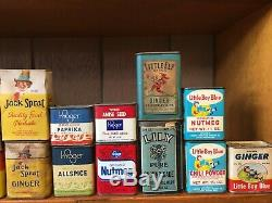 Antique & Vintage Spice Tin Collection 108 Total Tins Hard to Find, Must See