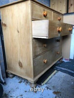 Antique victorian pine chest of drawers PLEASE SEE DESCRIPTION MUST COLLECT ASAP