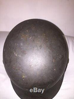 Authentic WW2 GERMAN M40 HELMET SIZE Q62/N172 Mark MUST SEE Single Decal MN RARE