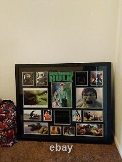 Autographed Incredible Hulk Framed Three Signatures MUST SEE