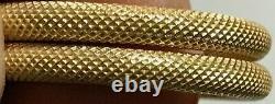 BEAUTIFUL Signed MILROS 14K Hoop Earrings Must See 2.4 Grams 14K Gold COOL G-29