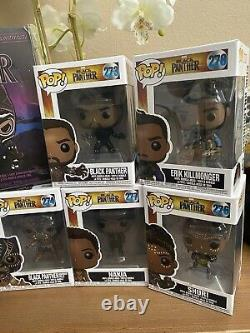 BLACK PANTHER BUNDLE Funko Pop lot Must See Target exclusive and more