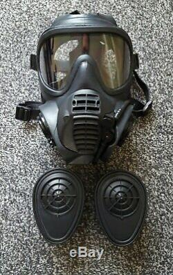 Brand new sealed British Military GSR Gas Mask and filters (Size 4) MUST SEE