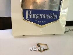 Burgermeister Beer Light Up Motion Sign Vintage Pub Bar Must See Unique