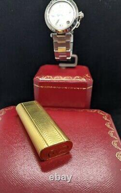 CARTIER 18Kt GOLD LIGHTER WORKS GREAT! OVERHAULED! MUST SEE! OVAL