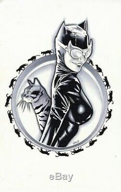 CATWOMAN ILLUSTRATION/T-SHIRT DESIGN Original Art by GREG LAND -MUST SEE! 2000s