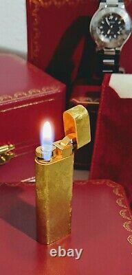 Cartier Gold Lighter MINT! Overhauled! MUST SEE! FREE SERVICE FOR LIFE