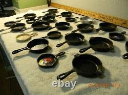 Cast Iron Small Skillet Collection Antique To Vintage A Must See, 24 Total