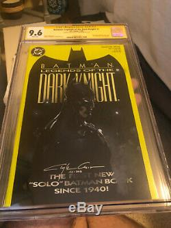 Clayton Crain Batman original art Legends of Dark Knight CGC 9.6 MUST SEE