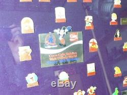 DISNEY PIN COMPLETE SET FRAMED (23 x 26) COCA-COLA SALUTE TO DISNEY Must See