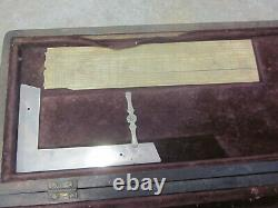 Early Antique Engineer Drafting Set MUST SEE 1876 Compass x2 + MORE WOW FreeS&H