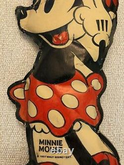 Extremely Rare 1930s Mickey Mouse's Minnie Mouse Oil Cloth Doll. Must See