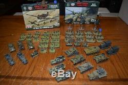 FOW Flames Of War US GERM Army / Rules Collection Lot 15mm Many Extras Must See