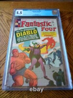 Fantastic Four #30 CGC 5.5 White Must See Presents Crazy Well 1st Diablo 1964