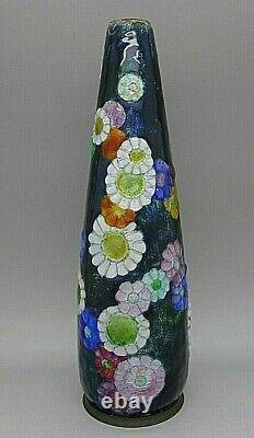 French Camille Faure Limoges Enamel Art Nouveau Art Deco Vase Rare Must See