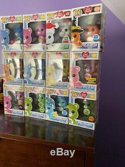 Funko Pop Carebears Lot Of 12! 3 Limited Edition 3 Chase 3 Exclusives! Must See