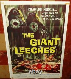 GIANT LEECHES (The) Genuine original 1959 One-sheet VG-EXC Condition. Must See