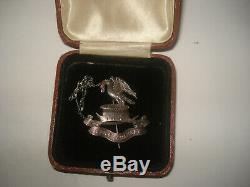 Genuine Liverpool Pals Silver Officers Cap Badge MUST SEE