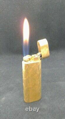 Gold Cartier Lighter 18Kt Gold Plating Overhauled! Working great! Must See