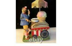HAUNTED Melody in Motion Ice Cream Vendor Doll Statue. AUTOMATION! MUST SEE