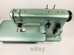 Husqvarna Viking Automatic Type 21 Swedish Sewing Machine with Case Rare Must See
