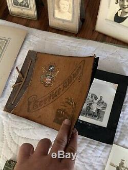 INCREDIBLE FAMILY PHOTO LOT WWI & WW2 Photo Albums SHIPS AIRPLANES ETC MUST SEE