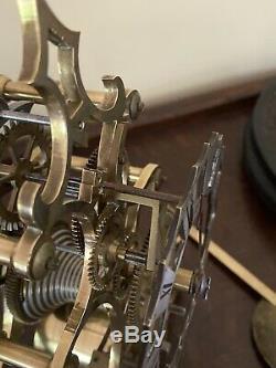 Incredible Antique Single Fusee Skeleton Clock Must See