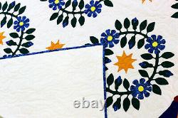 Incredible Hand Applique Presidents Wreath FINISHED QUILT = A Must See Quilt