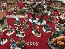 Incredible Wyndham/other Christmas Village Ready To Go 60 Pcs! Must See