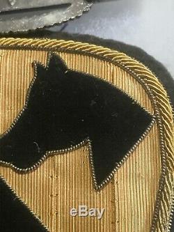 Korean War 1st Cavalry Grouping IDd Stunning Bullion Patch Must See