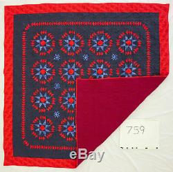 Large Stars with Flying Geese FINISHED QUILT Great look Must See