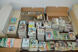Large Vintage Sports Card Collection! 1960's-1980's! Must See