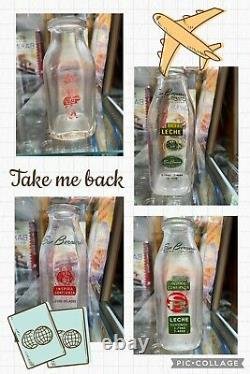 Lot Of 4 San Bernardo Cuban Milk Bottles Hard To Find In Any Condition Must See