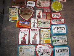 Lot of EMPTY Altoids Tins and Sealed packs of rare hard to find Gum Must See