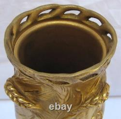 MAGNIFICENT 19th Century F. Barbedienne French Dore Bronze Vase, MUST SEE